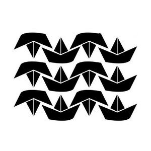12 piece black boat wall stickers