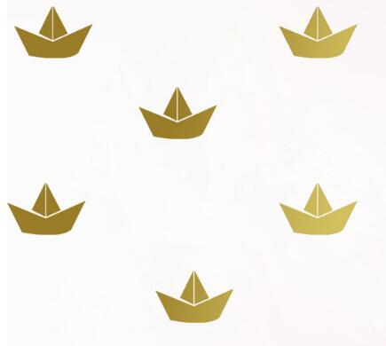 12 piece gold boat wall stickers