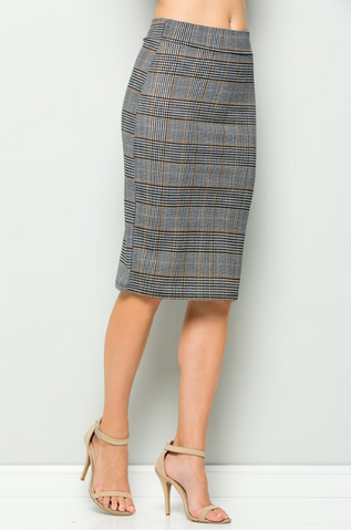 Modern Pollock High Waisted Pencil Skirt