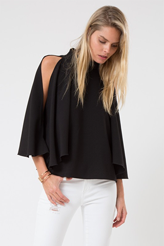 Butterfly Wings Cape Top Black