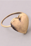Locket Heart Ring Bronze