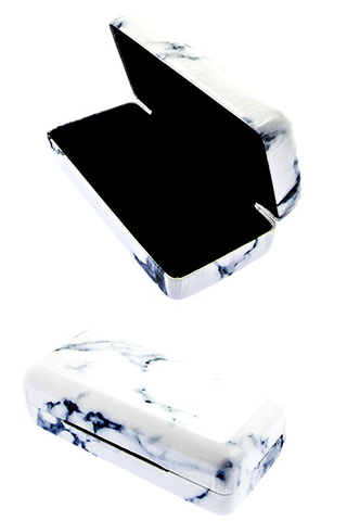 Classic Black and White Marble Sunglasses Case