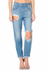 Living The Dream Distressed Denim Jeans