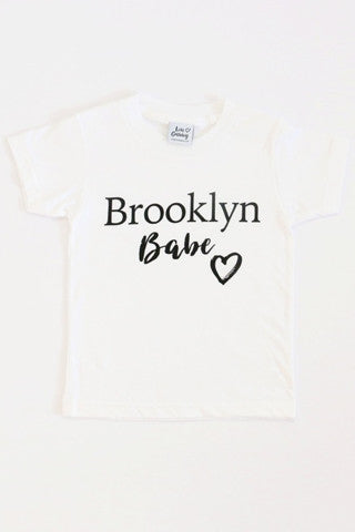 Kids - Brooklyn Babe Kids White T-Shirt