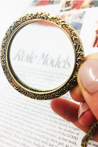 The Looking Glass Magnifying Bronze Necklace