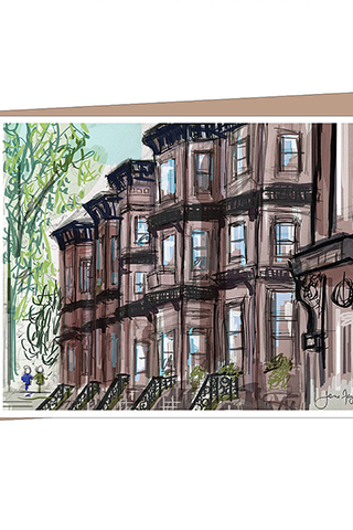 Park Slope Strollin Greeting Card