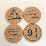 Other - HP Themed Cork Coasters- Set Of 4