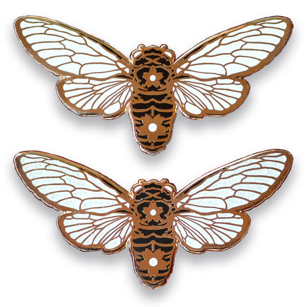 XL Winged Cicada Lapel Pin