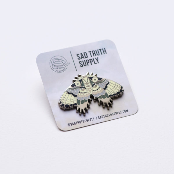 XL Goth Moth Statement Pin, Pins, - Sad Truth Supply - Enamel Pins