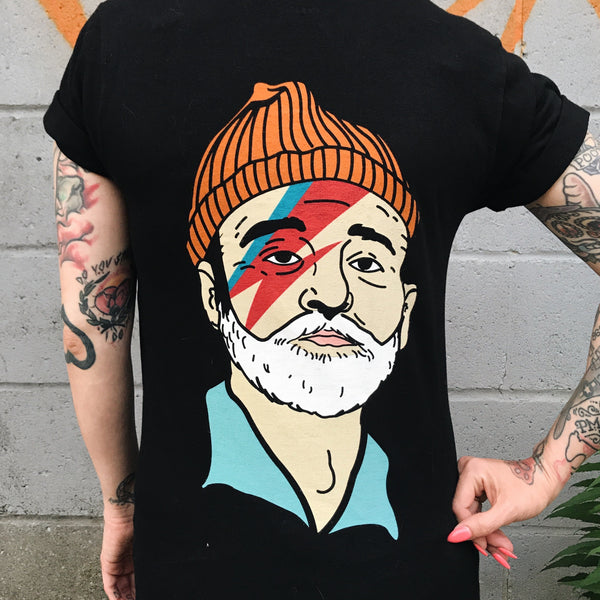 Team Zissou Tee (BLACK) - Sad Truth Supply