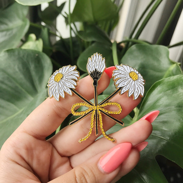 XL Wildflower Bouquet Statement Pin, Pins, - Sad Truth Supply - Enamel Pins