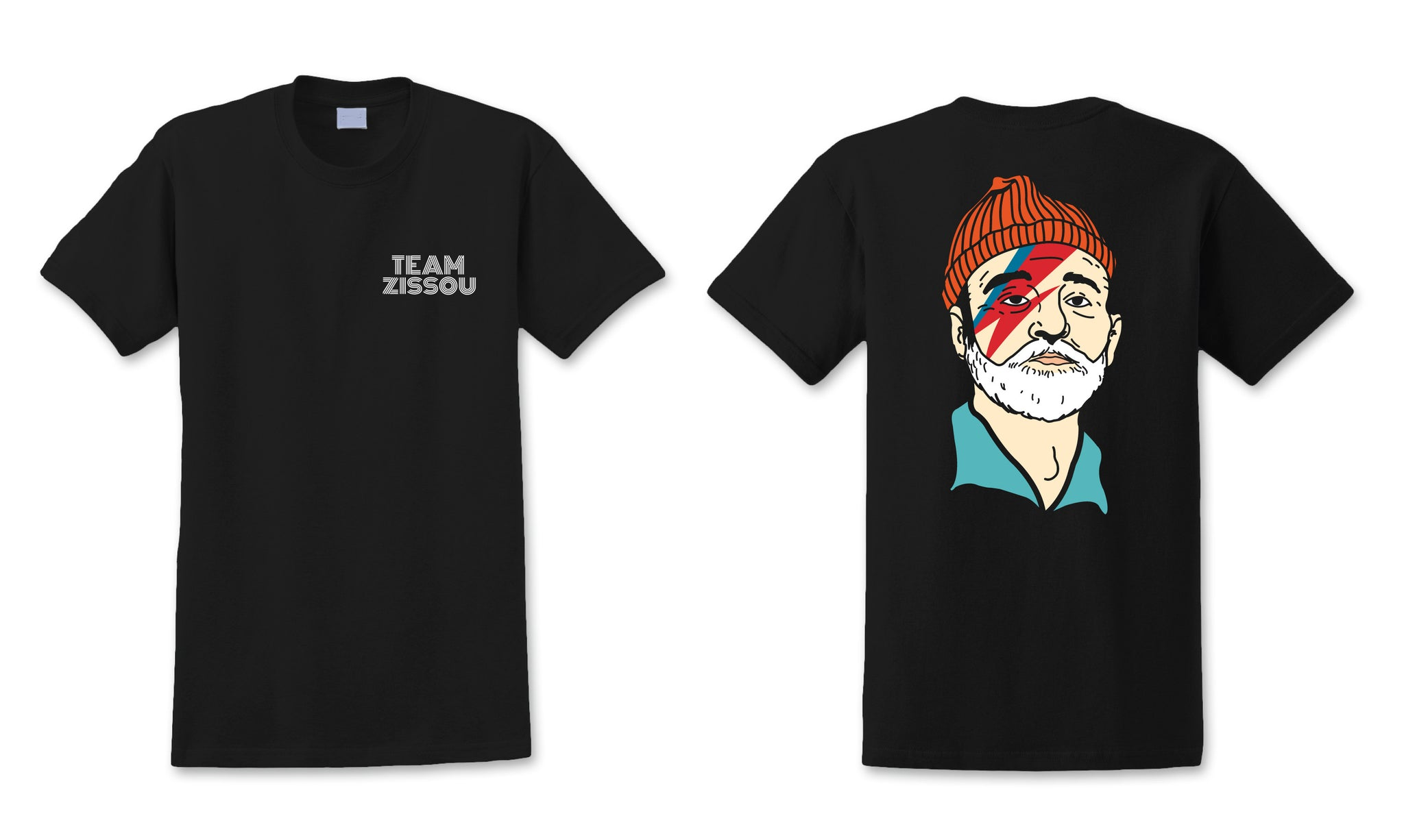 Team Zissou Tee (BLACK), Apparel, - Sad Truth Supply - Enamel Pins