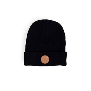 Genuine Leather Labelled Beanie, Hat, - Sad Truth Supply - Enamel Pins