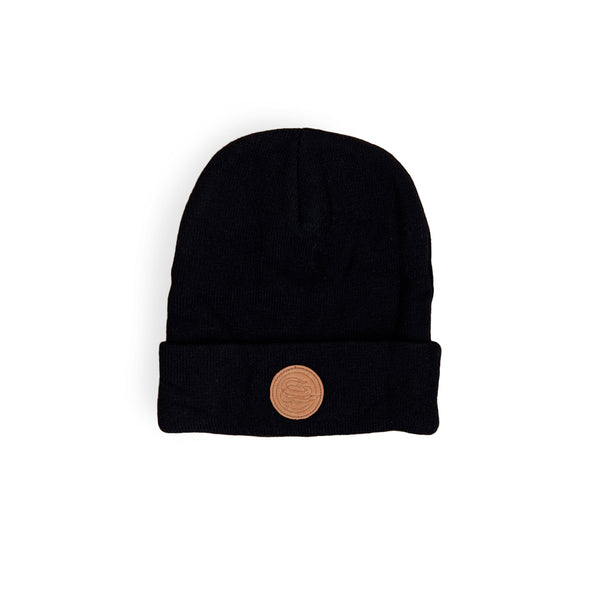 Genuine Leather Labelled Beanie - Sad Truth Supply