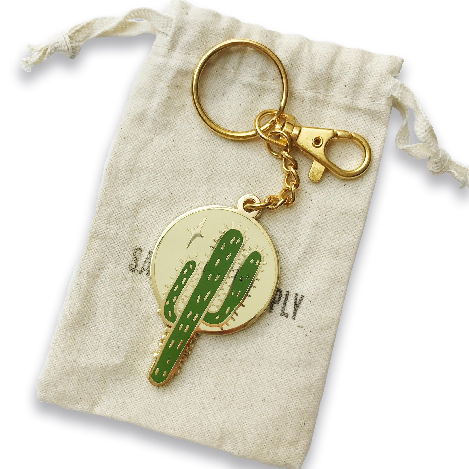 Saguaro Nights Keychain & Purse Charm - Sad Truth Supply