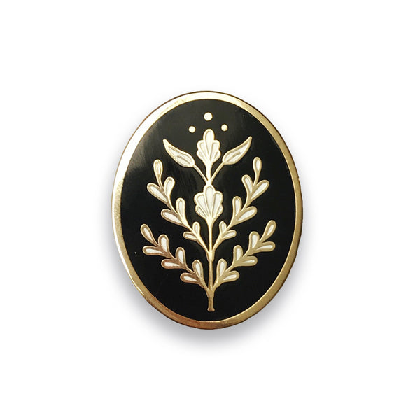 Floral Motif Lapel Pin - Sad Truth Supply