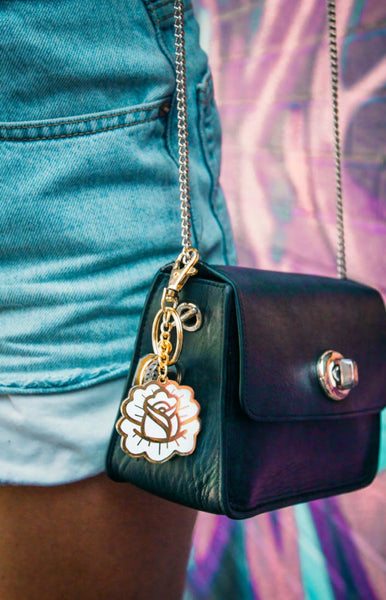 Rose Petal Keychain & Purse Charm