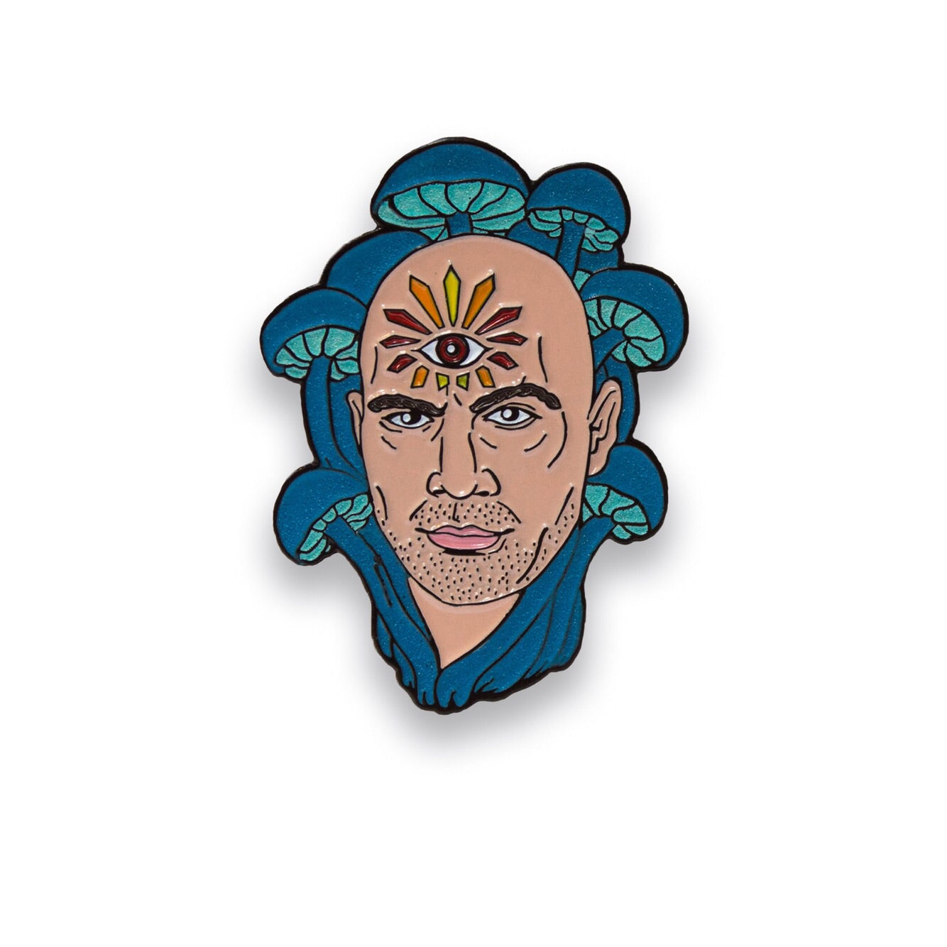 Joe Rogan Enamel Lapel Pin - Glow in the dark