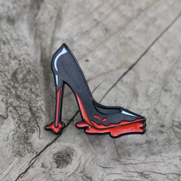 Bloody Shoes Enamel Lapel Pin, Pins, - Sad Truth Supply - Enamel Pins