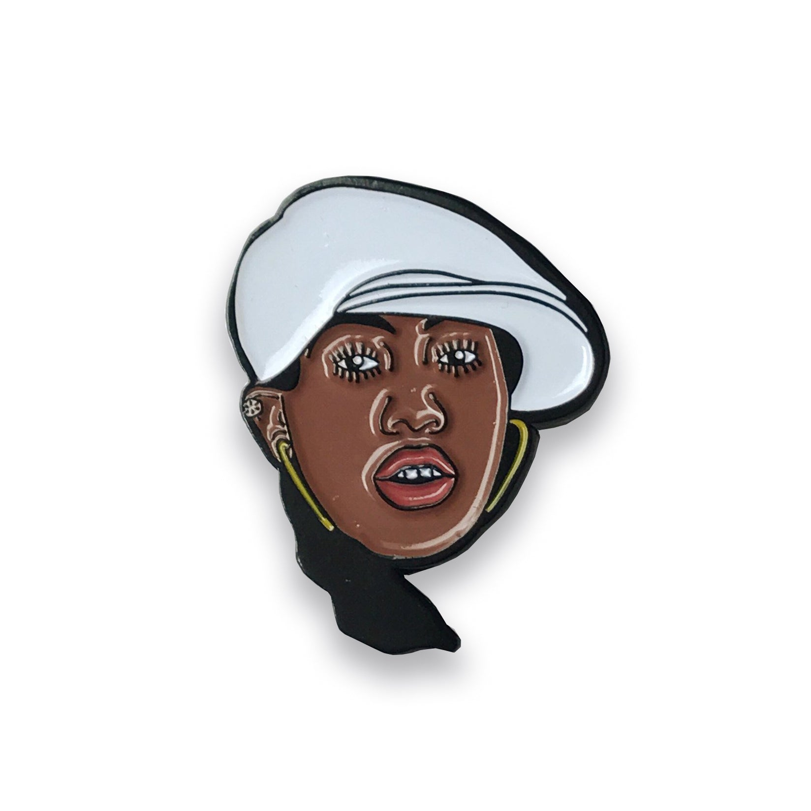 Missy Elliott Lapel Pin, Pins, - Sad Truth Supply - Enamel Pins