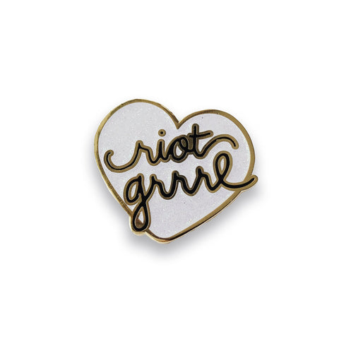 Riot Grrrl Lapel Pin (unicorn glitter), Pins, - Sad Truth Supply - Enamel Pins
