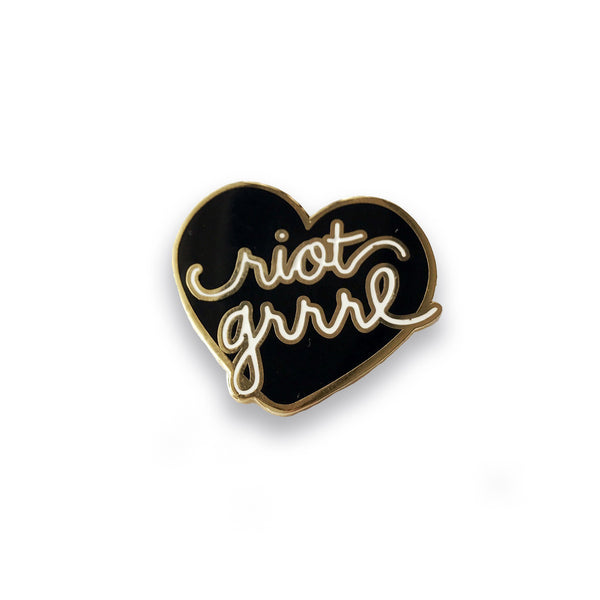 Riot Grrrl Lapel Pin (black) - Sad Truth Supply
