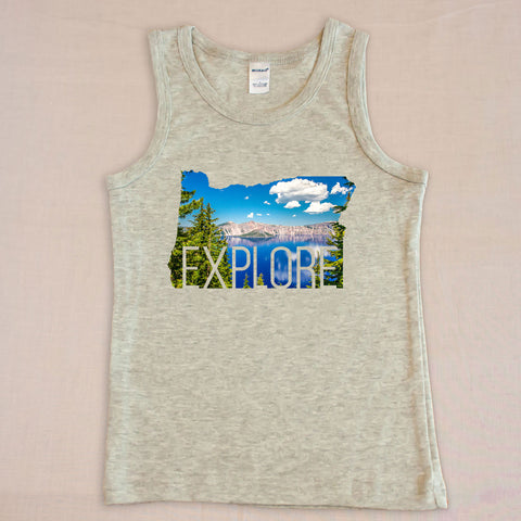 Explore Kids Tank Top - Small Apparel  - 1