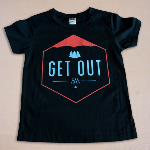 Get Out Kids T-Shirt - Small Apparel  - 1