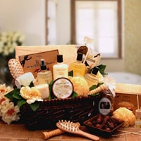 Spa Therapy Relaxation Gift Hamper Basket - Fine Gifts La Bella Basket Company