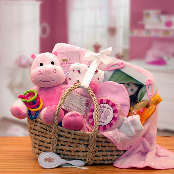 Our Precious Baby Carrier Gift Basket - Fine Gifts La Bella Basket Company
