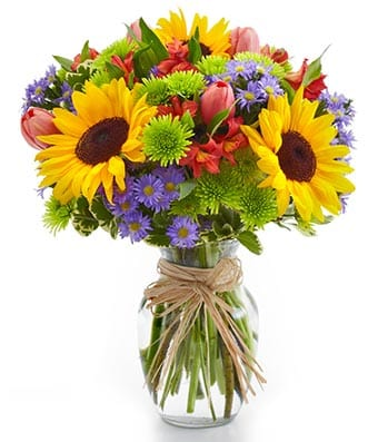 Garden Bouquet Flower Arrangement - Fine Gifts La Bella Basket Company
