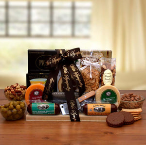 With Our Deepest Sympathy Gourmet Gift Board - Fine Gifts La Bella Basket Company