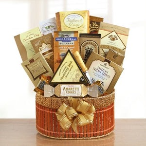 Golden Delights Basket - Fine Gifts La Bella Basket Company