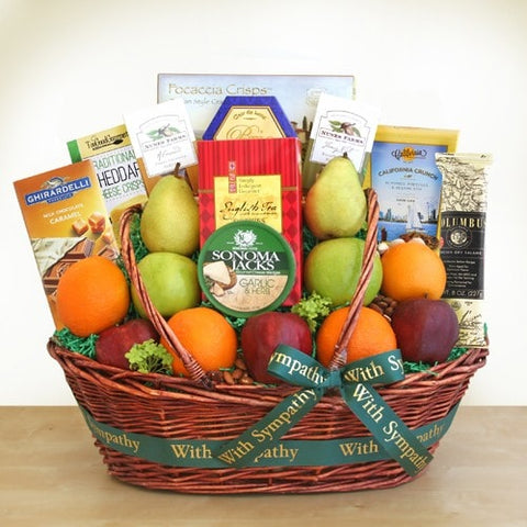 Sincere Sympathies Fruit Basket - Fine Gifts La Bella Basket Company
