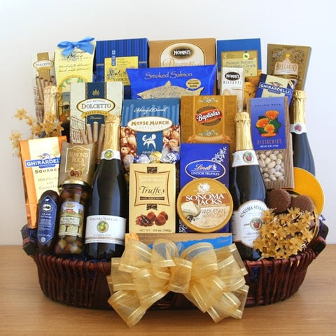 Sparkling Celebrations Gift Basket - Fine Gifts La Bella Basket Company