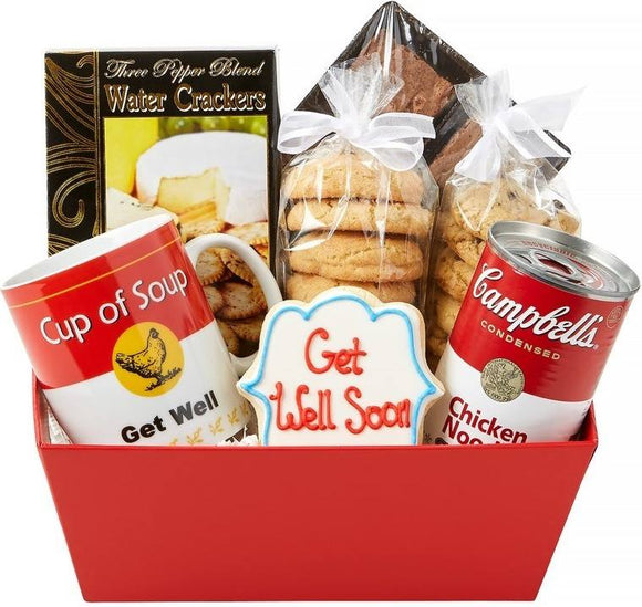 Get Well Souper Soon Basket - Fine Gifts La Bella Basket Company