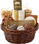 Chocolate Lovers Gourmet Treats Basket - Fine Gifts La Bella Basket Company