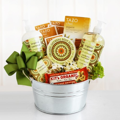 California Organic Spa Basket - Fine Gifts La Bella Basket Company