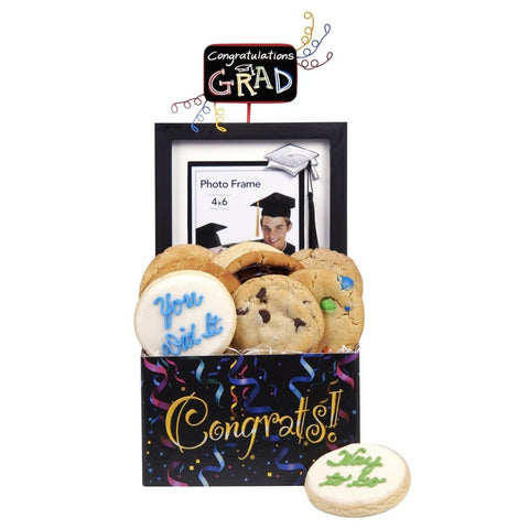 Graduation Frame and Cookies - Fine Gifts La Bella Basket Company