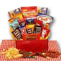 All American Favorites Snack Care Package - Fine Gifts La Bella Basket Company