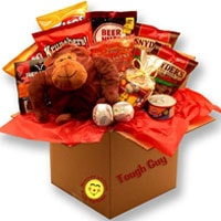 Tough Guys Snack Care Package - Fine Gifts La Bella Basket Company