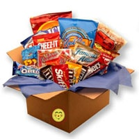 Snackdown Deluxe Snacks Care Package - Fine Gifts La Bella Basket Company