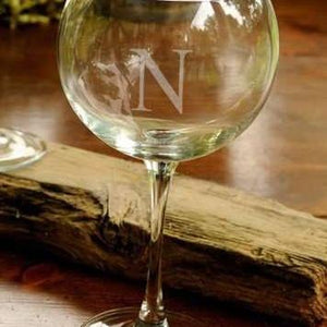 100 Personalized Red Wine Glasses Laser Etched w/ Initial for Weddings, Events and Parties