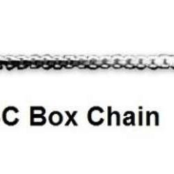 16 Inch Box Chain Sterling Silver Necklace - Fine Gifts La Bella Basket Company