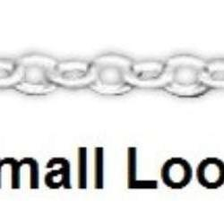 16 Inch Small Loop Sterling Silver Chain
