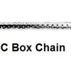 18 Inch Box Sterling Silver Chain - Fine Gifts La Bella Basket Company