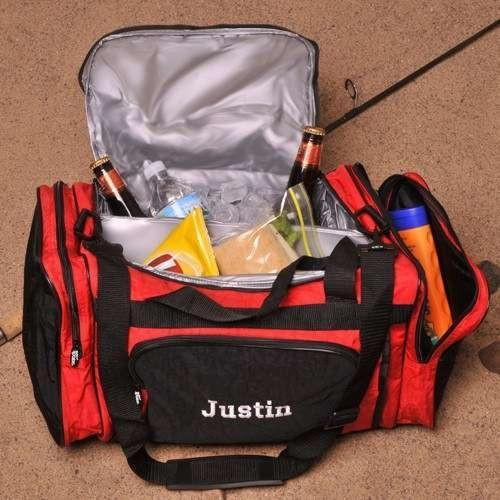 2-in-1 Cooler Duffle Bag With Thread Color Choices