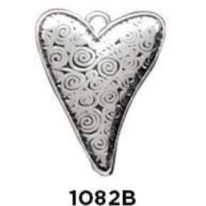 Abstract Heart Charm Sterling Silver .925 - Fine Gifts La Bella Basket Company