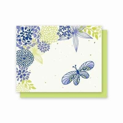 All Occasion Flowers & Butterfly Plantable Greeting Cards - Fine Gifts La Bella Basket Company