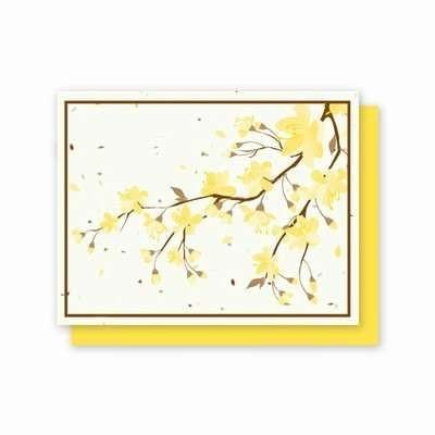 All Occasion Yellow Flowers Plantable Greeting Cards - Fine Gifts La Bella Basket Company